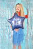 Picture of Foil balloon star - Navy happy birthday