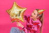 Picture of Foil balloon star - Gold happy birthday