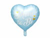 Picture of Foil Balloon Heart - Μom to be blue