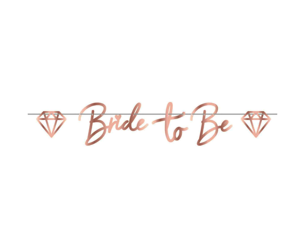 Picture of Bunting - Bride to be rose gold
