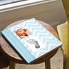 Picture of Babybook chevron light blue