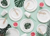 Picture of Dinner sugar cane plates - White