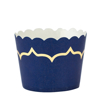 Picture of Cake cups blue marine with gold