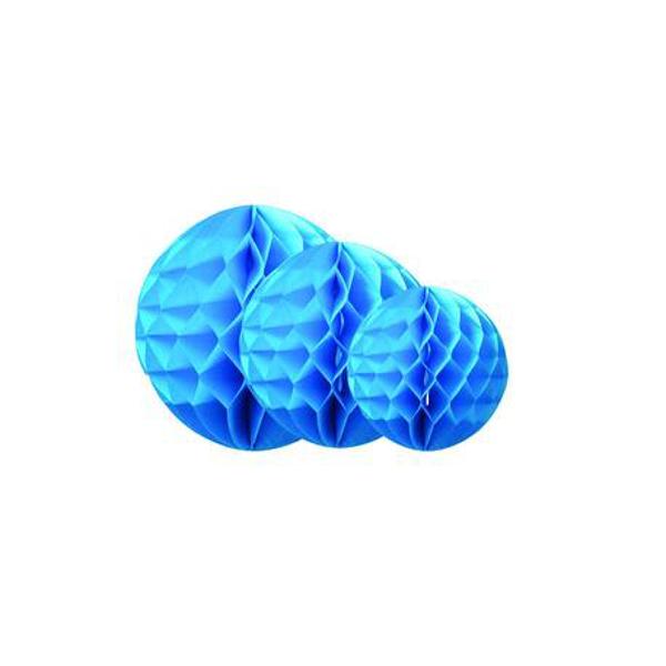 Χάρτινες μπάλες μπλε (σετ 3)