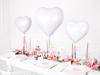 Μπαλόνι Foil σε σχήμα Καρδιά - Λευκό (L)
