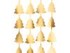 Διακοσμητική κουρτίνα με δεντράκια - Χρυσή