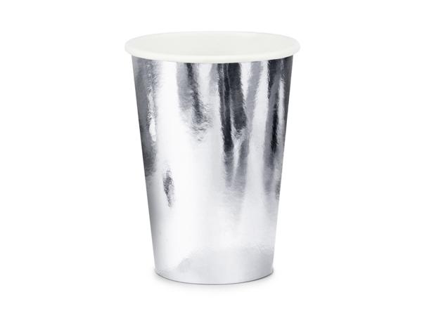 Χάρτινα ποτήρια - Ασημί