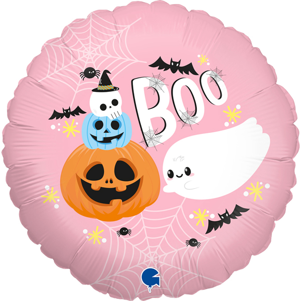 Picture of Foil Balloon BOO pink