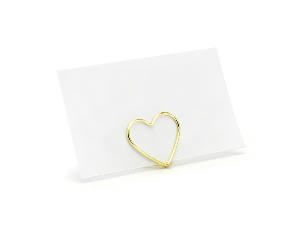 Picture of Place card holders - Gold heart