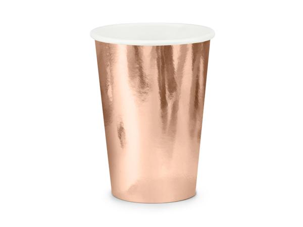Χάρτινα ποτήρια - Ροζ Χρυσό