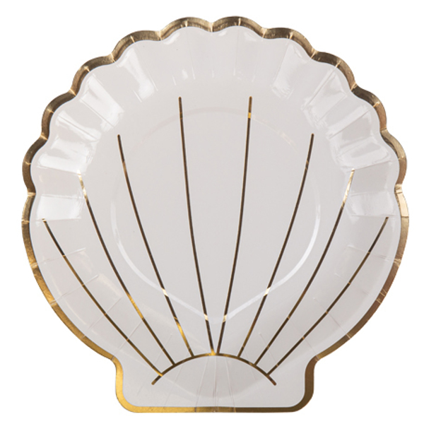 Picture of Paper Plates (18cm) - Seashell