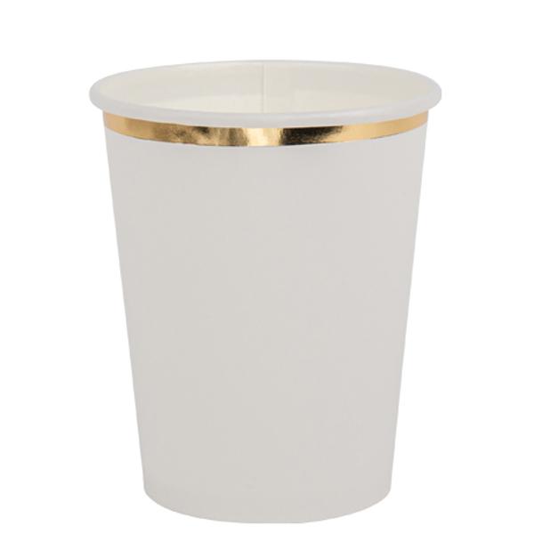 Χάρτινα ποτήρια - Λευκό