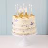 Κεράκια για τούρτα λευκό και χρυσό