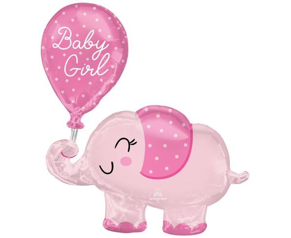 Μπαλόνι foil Ελεφαντάκι - Baby girl