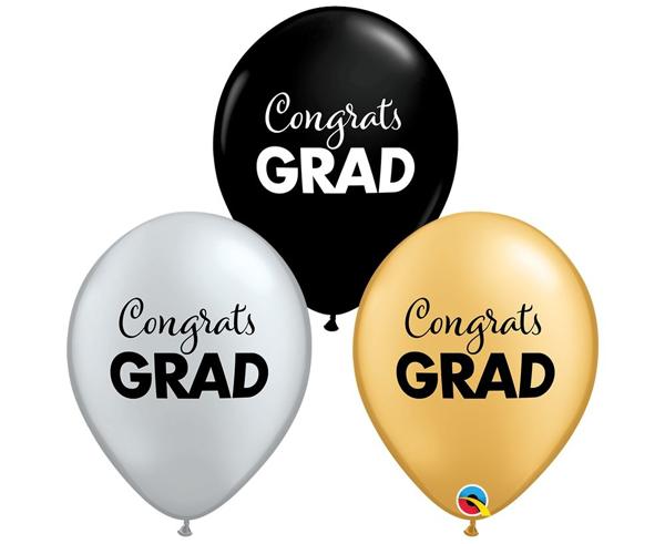 Σετ μπαλόνια αποφοίτησης - Congrats Grad (σετ 5)