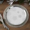 Χάρτινα πιάτα φαγητού - Χιονονιφάδα