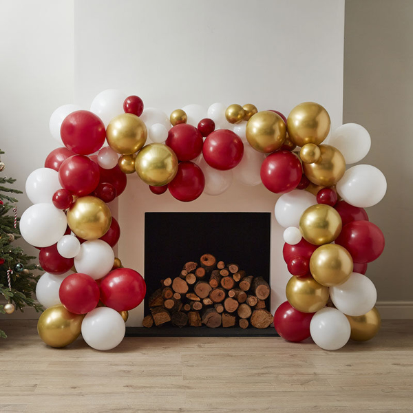 Picture of Balloon garland -  Red and gold