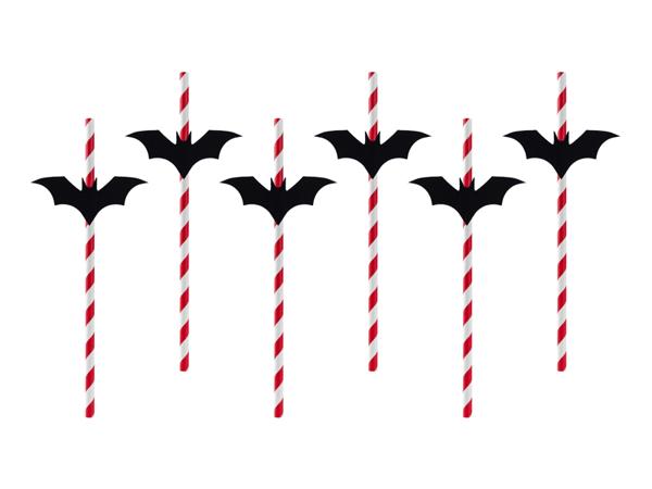 Χάρτινα καλαμάκια νυχτερίδες (6τμχ)