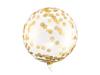 Μπαλόνι σε στρόγγυλο σχήμα - Διάφανο με χρυσά κομφετί