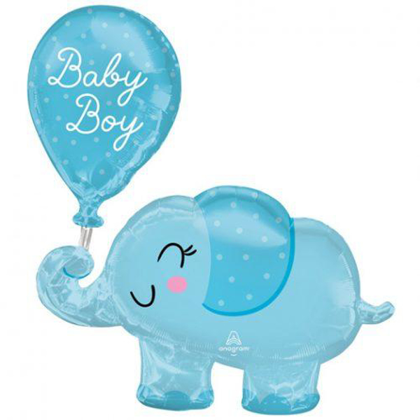 Picture of Foil balloon Elephant - Baby boy